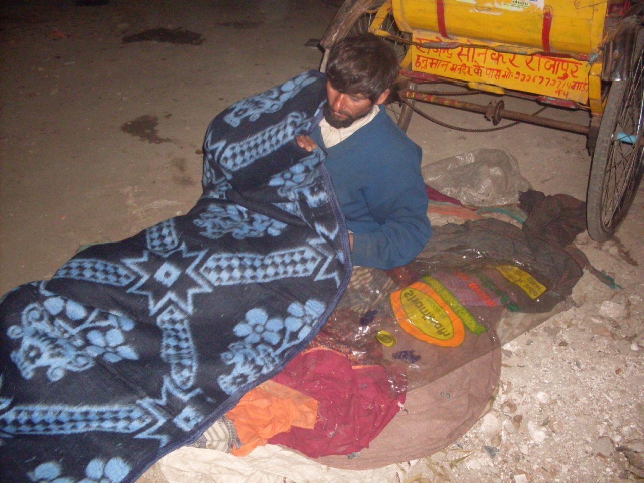 Rickshaw Drivers provision of blankets