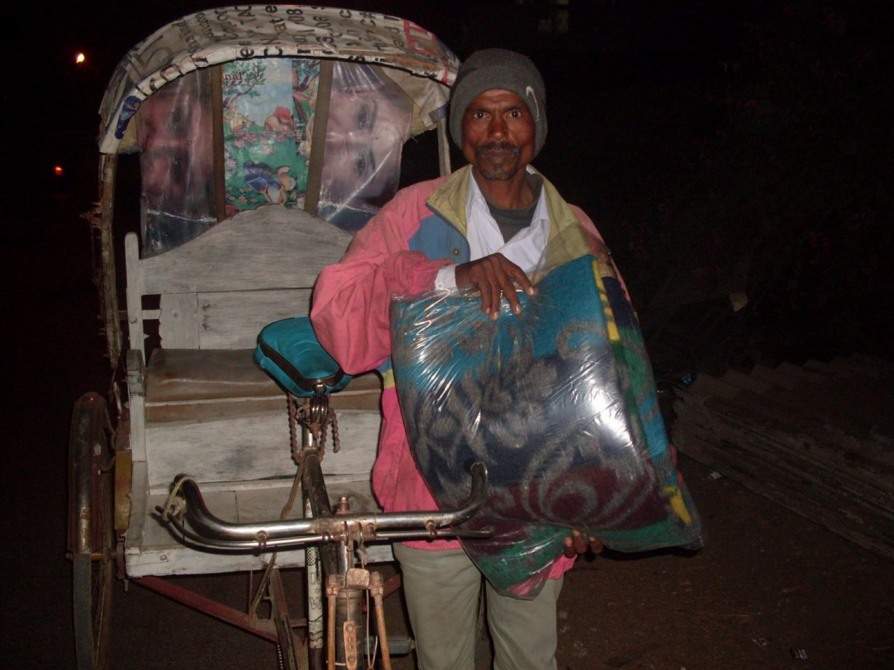 Blanket donations for Rickshaw Drivers