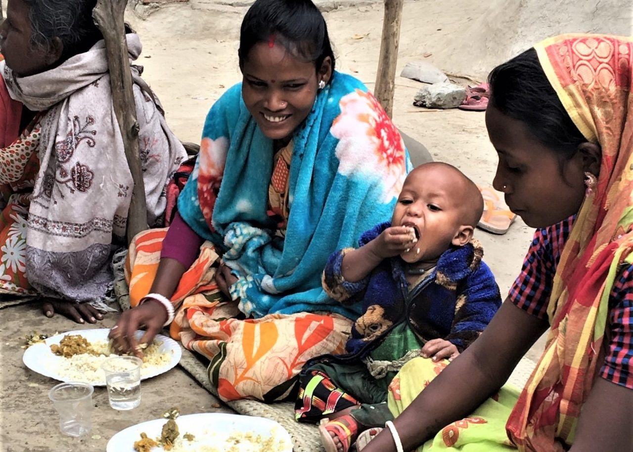 Christmas feeding in India