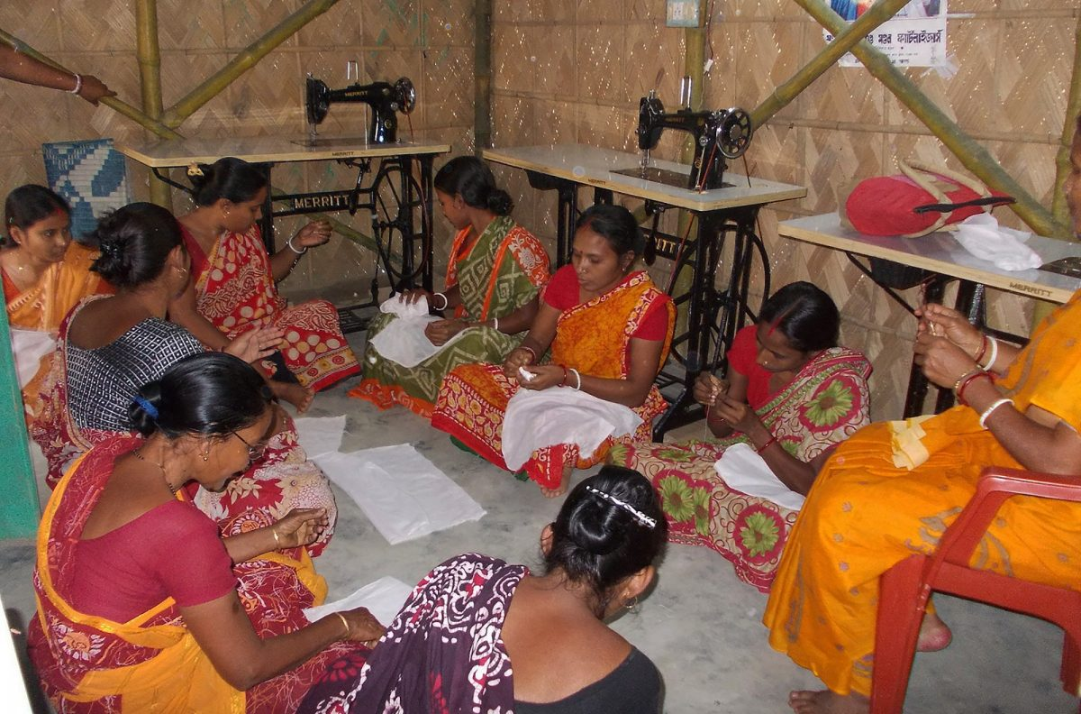 Sewing project in Rupamari