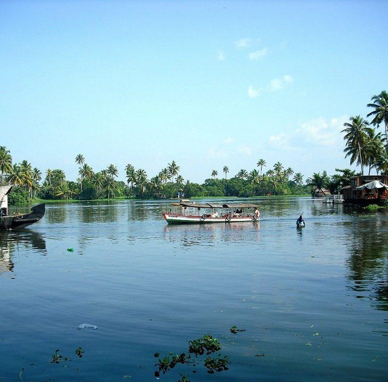 Kerala backwaters in south india